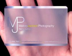 Plastic. Laser Etch Engrave. Card