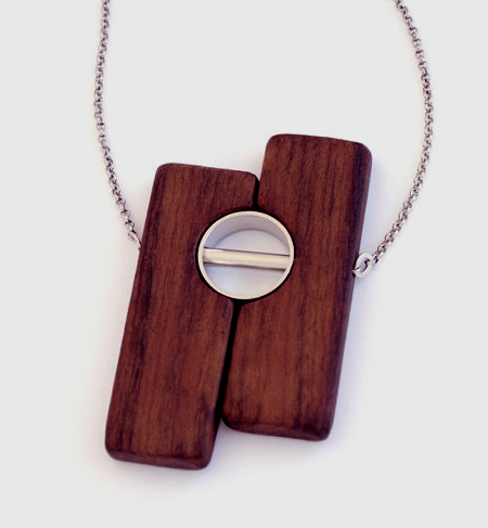 Laser cut solid wood pendant