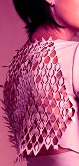 Textile. Laser cut Design.