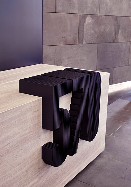 Commercial Signage - plywood relief