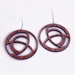Wood laser cut sample Necklace
