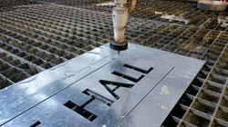 Water Jet cutting in Sign Industry