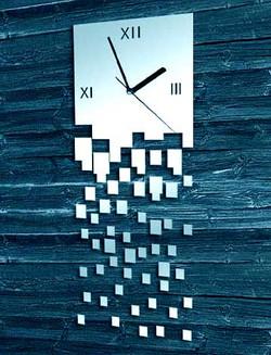 Laser cutting Acrylic Mirror Clock