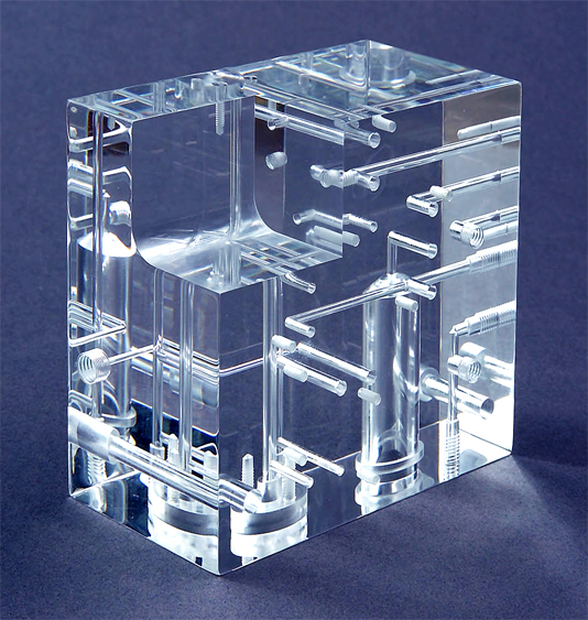 Micro Machining Clear Plastic