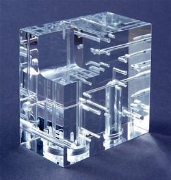 Micro Machining Clear Plastic
