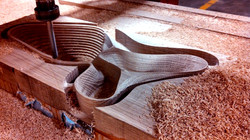 Deep CNC Routing Solid Wood