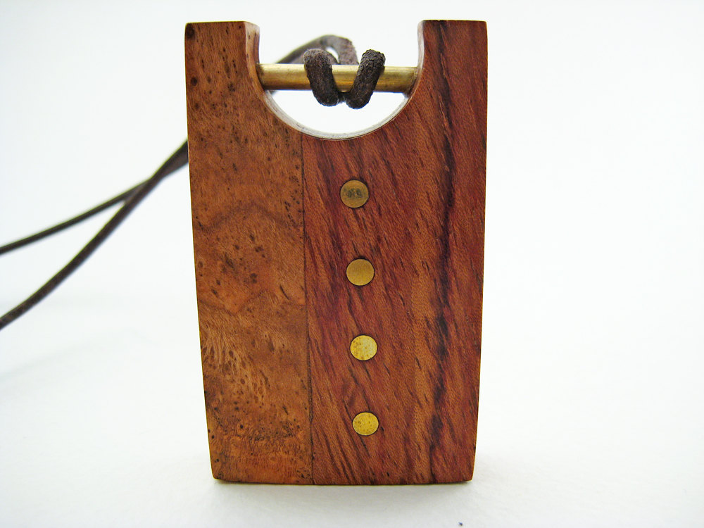 Wood. Laser Cut. Pendant.