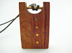 Laser Cut solid wood. Necklace.