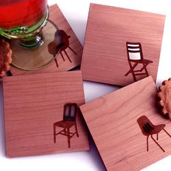 Wood Laser Engravings Coasters