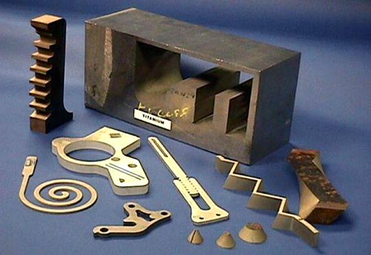 water jet cutting brass sample