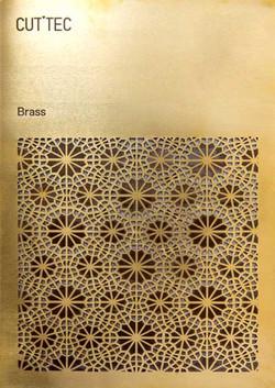 Brass. Laser cut & mark. Panel