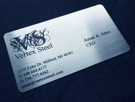 Metal Business cards Black marking