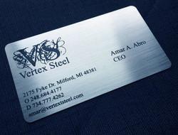 Metal Business cards Black marking