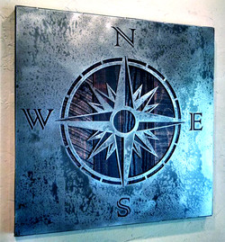 Nautical Compass - Metal Wall Art
