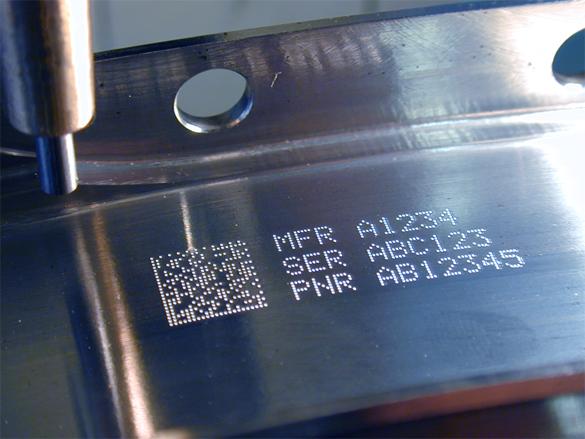Precision Micro laser engraving meta