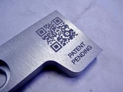 Metal marking sample