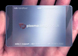 Fine metal cutting Business cards
