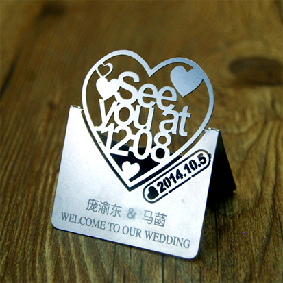 Laser cut and engrave stainless steel - Invites