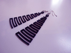 Laser Cut Plastic. Earrings.