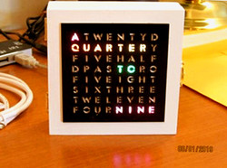Word Clock Acrylic laser cut panel