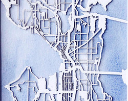 City Map Metal Laser cut.