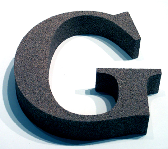 foam Letter Laser cut Sign.