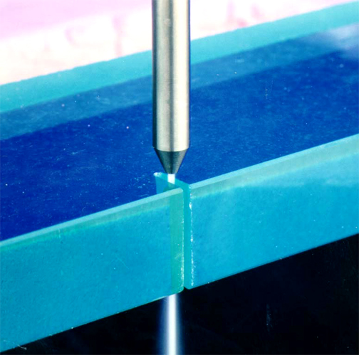 Fine glass cutting with CNC Waterjet