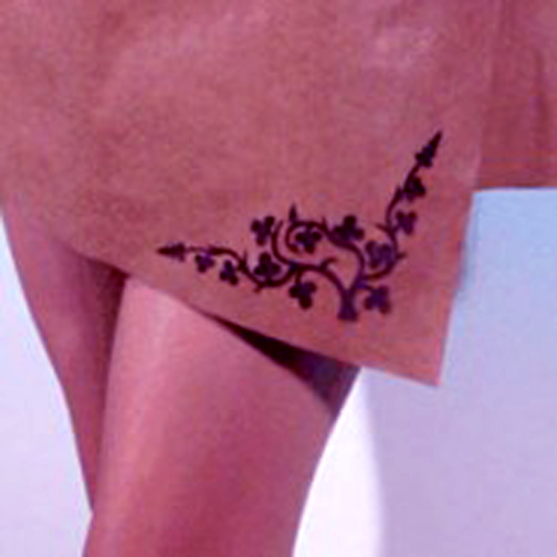 Laser engraving leather skirt sample