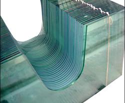 Water jet cutting glass mass produce