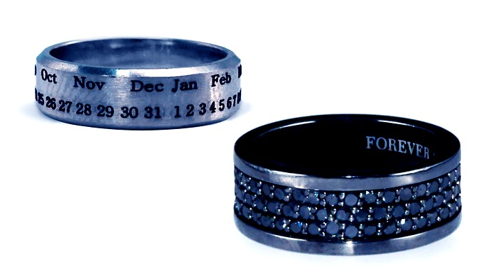 Customized engravings on Rings