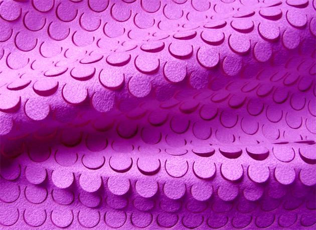 Geometric laser cut on Fabric