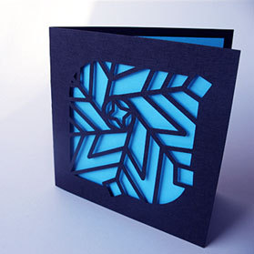 Laser Cut Card stock Greeting card