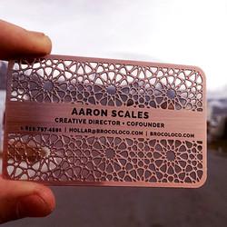 Copper. Laser Cut. Business Card