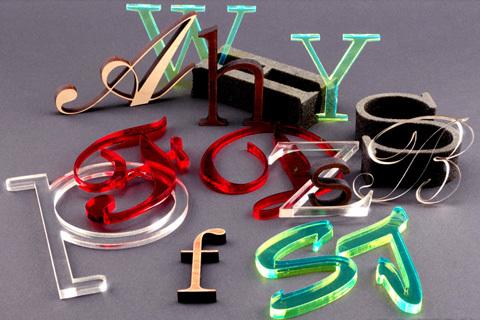 Laser Cut Acrylic Plastic. Signs.