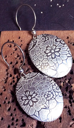 Sliver etching by laser earrings