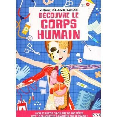 Livre et Puzzle Sassi - Découvre le Corps Humain