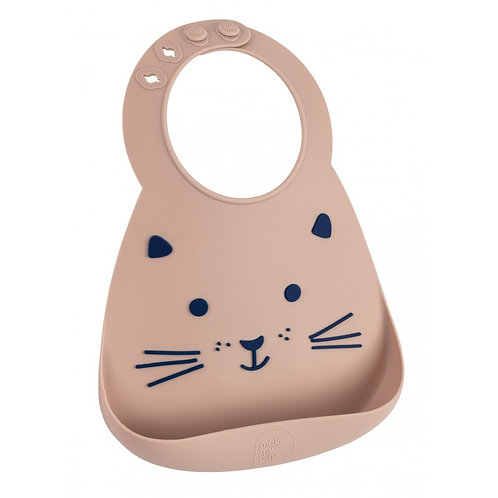 Bavoir silicone le chat taupe