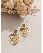 Boucle d'oreille coeur doré