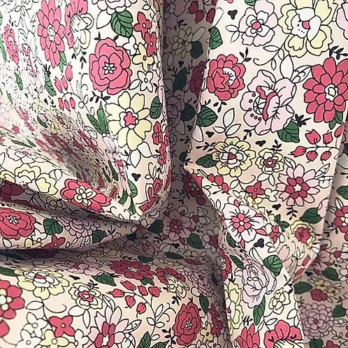 Foulard Liberty fleur rose