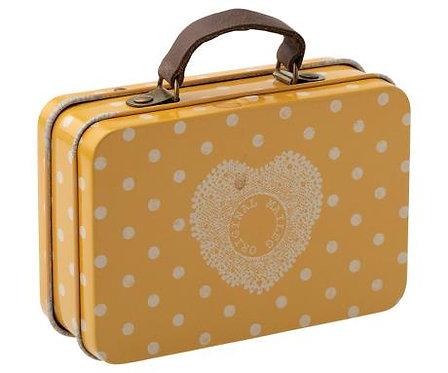 Suitcase, metal - Yellow dot