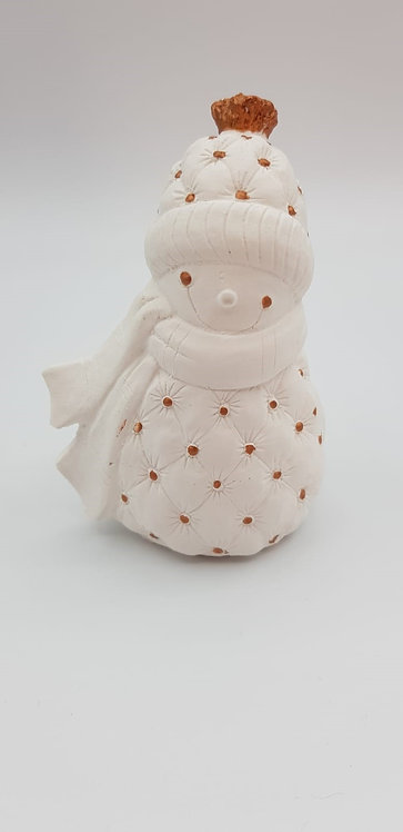 Bonhomme de neige cuivré 13cm
