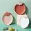 Thumbnail: Assiettes Fruits - Blanc Fraise