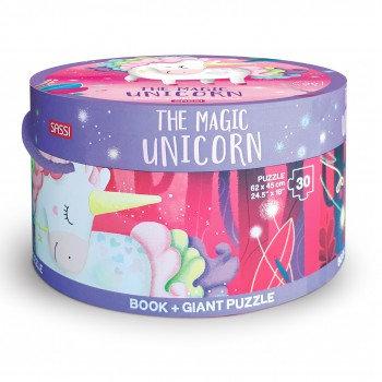 Ma licorne magique- Puzzle Géant et livre