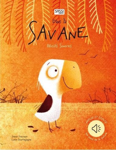 Livre récit sonore dans la savane