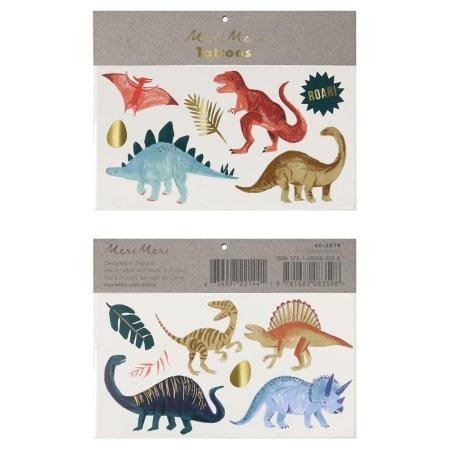 Tatouages temporaires Royaume des dinosaures