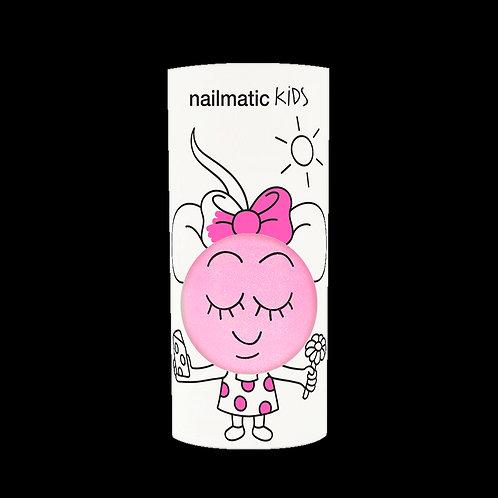 Vernis enfant base eau - Dolly - rose néon nacré