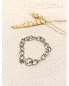 Bracelet chaine argenté
