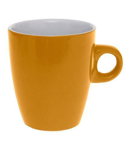 Mug Rond en Faïence coloris Moutarde 18 cl
