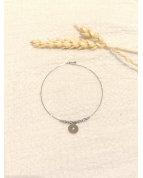 bracelet jonc fin étoile argenté
