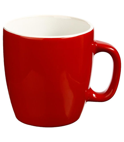 Mug Rond en Faïence coloris Rouge 18 cl